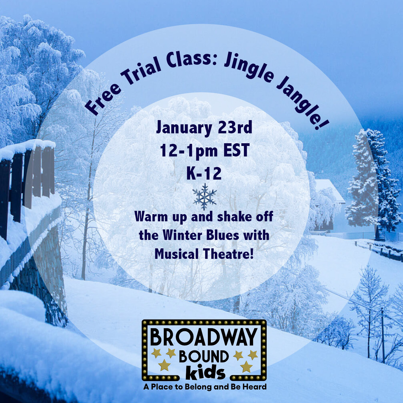 ONLINE Free Musical Theatre Class at Broadway Bound Kids