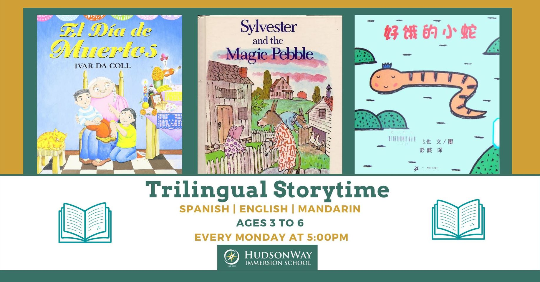 ONLINE Trilingual Storytime Mandarin and Spanish at HudsonWay Immersion School