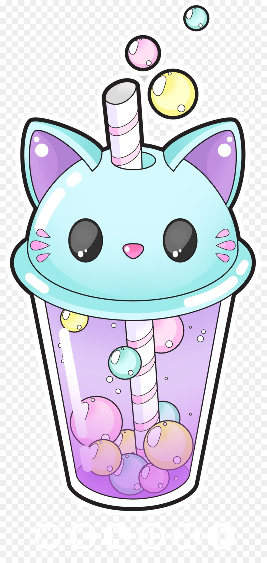 ONLINE Draw Kitty Cup - Kawaii Bubble Tea at Key to My Art
