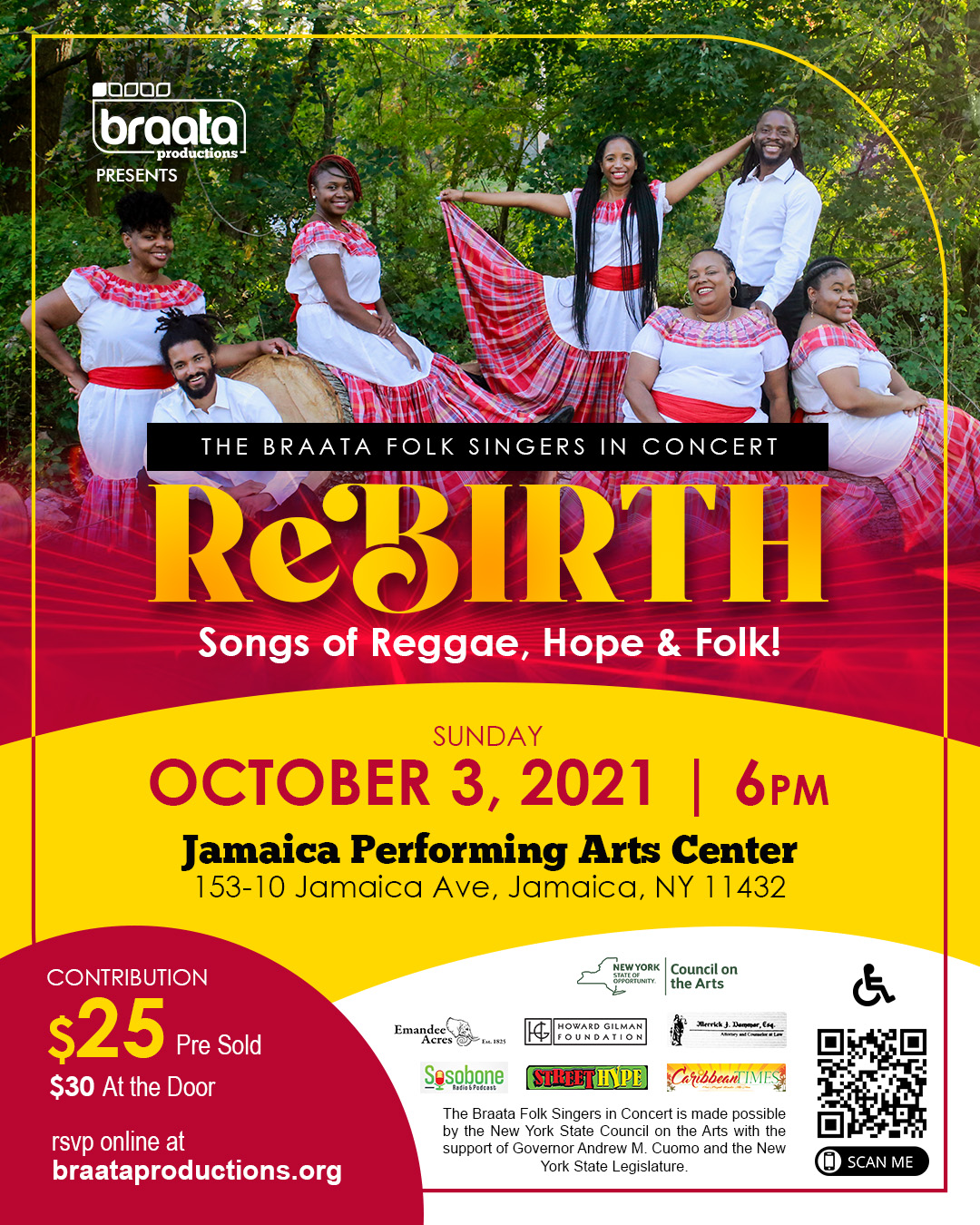 Braata Folk Singers in Concert: Rebirth at Jamaica Performing Arts Center (JPAC)