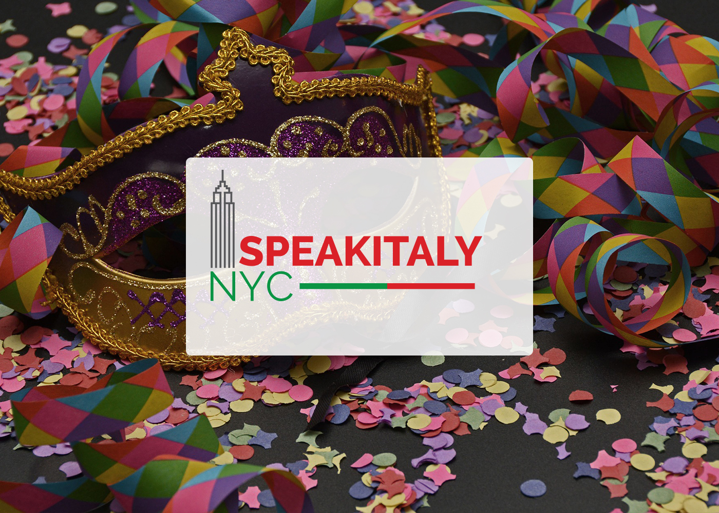 ONLINE Italian Masquerade Carneval Workshop at Speakitaly NYC