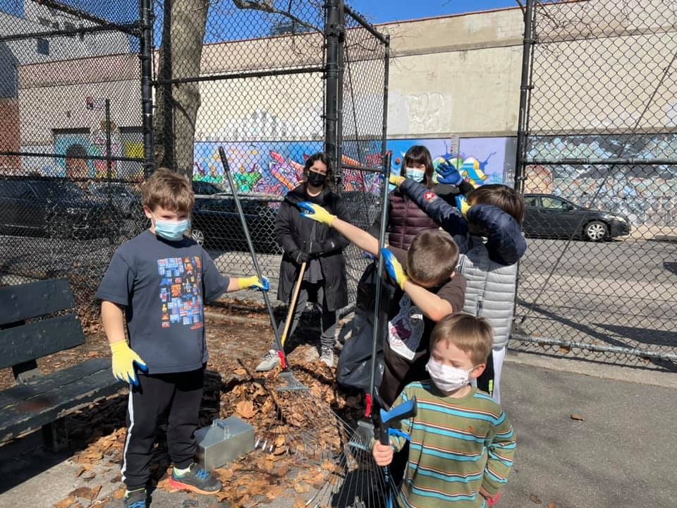 Sonam's Eagle Project (American Playground It's My Park Clean Up) at American Playground