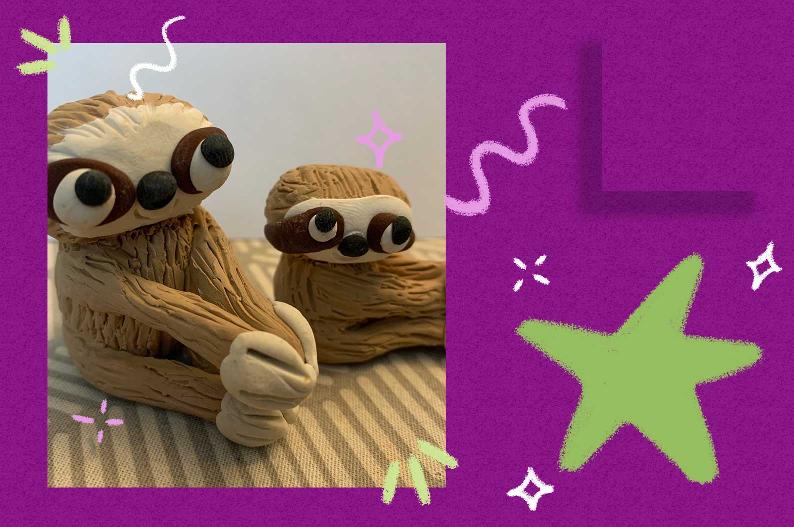 IN PERSON Make A Sloth With Polymer Clay Workshop at The Rye Arts Center