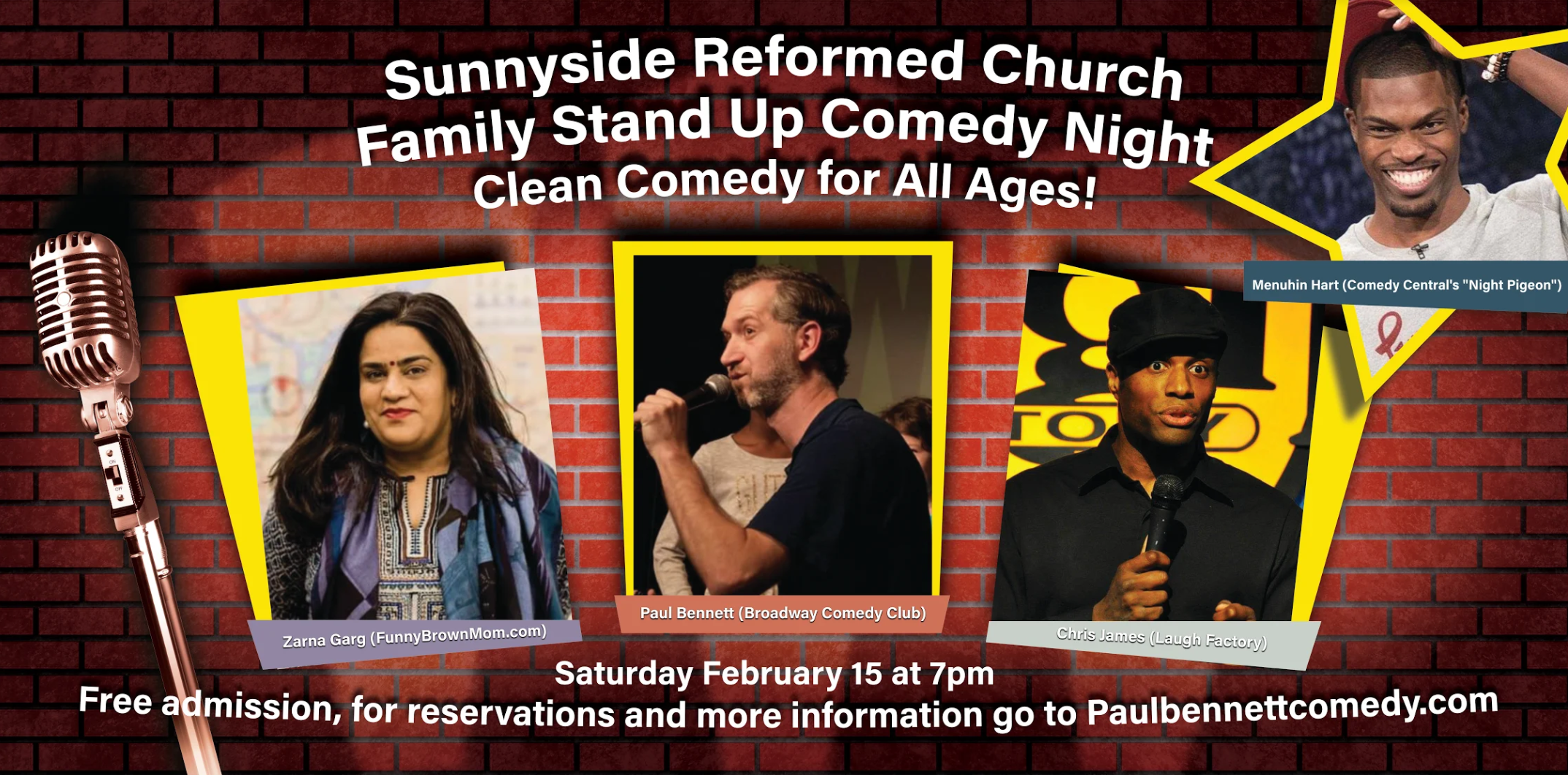Sunnyside Reformed Church Family Comedy Night at Sunnyside Reformed Church