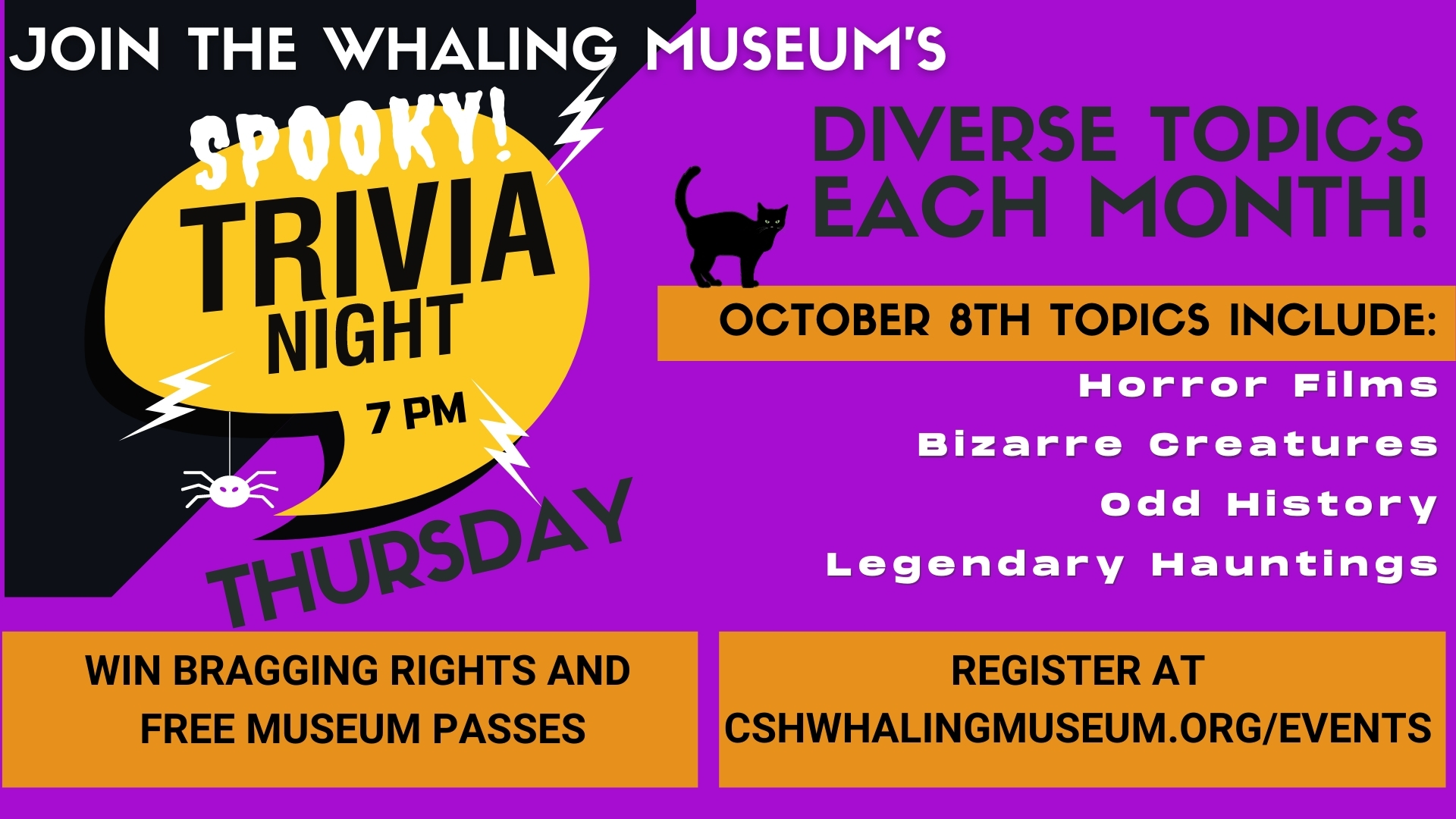 ONLINE Spooky Virtual Trivia Night! at The Whaling Museum & Education Center