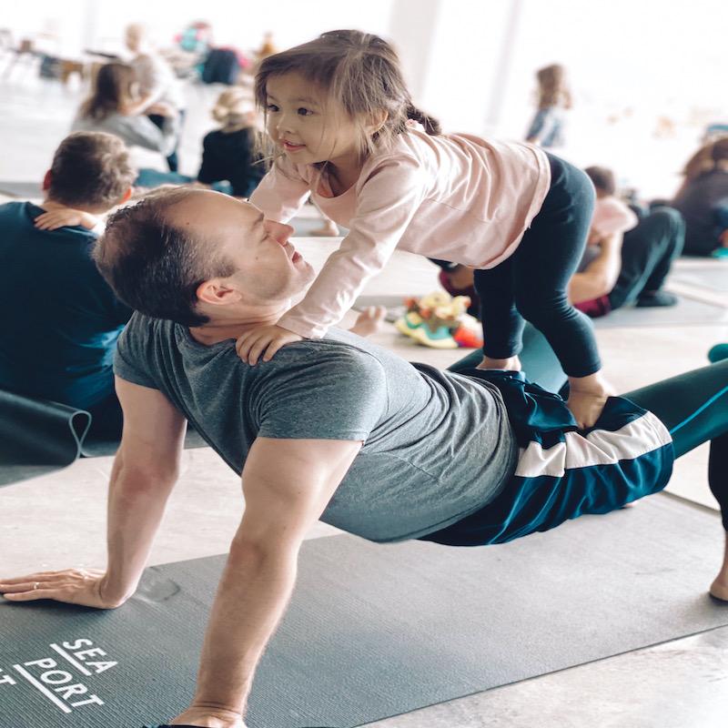 Daddy & Me Yoga on Zoom! at Karma Kids Yoga