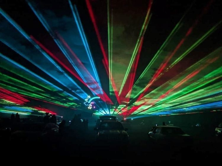 Totally Rock'n Drive-In Laser Light Show at Quassy Amusement & Waterpark