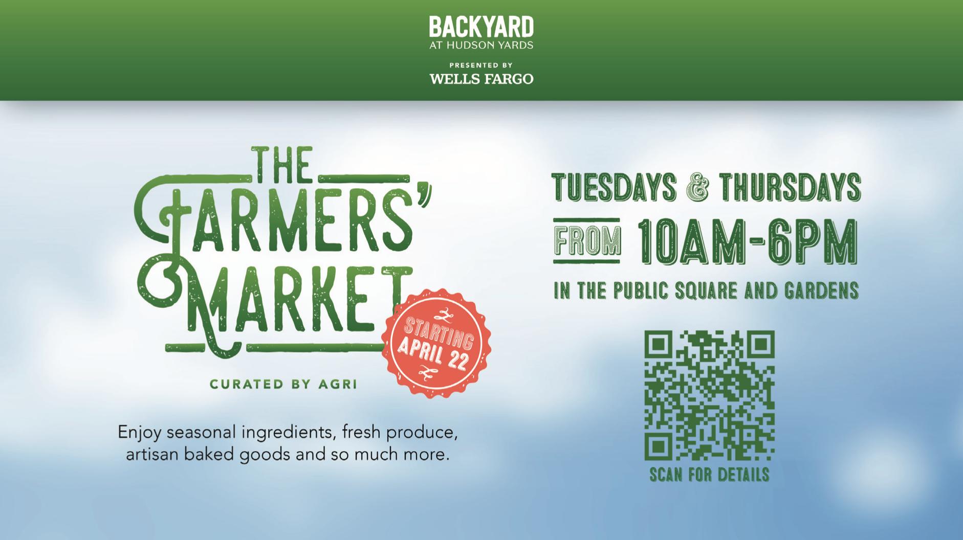 Inaugural Earth Day Farmer's Market at The Backyard at Hudson Yards