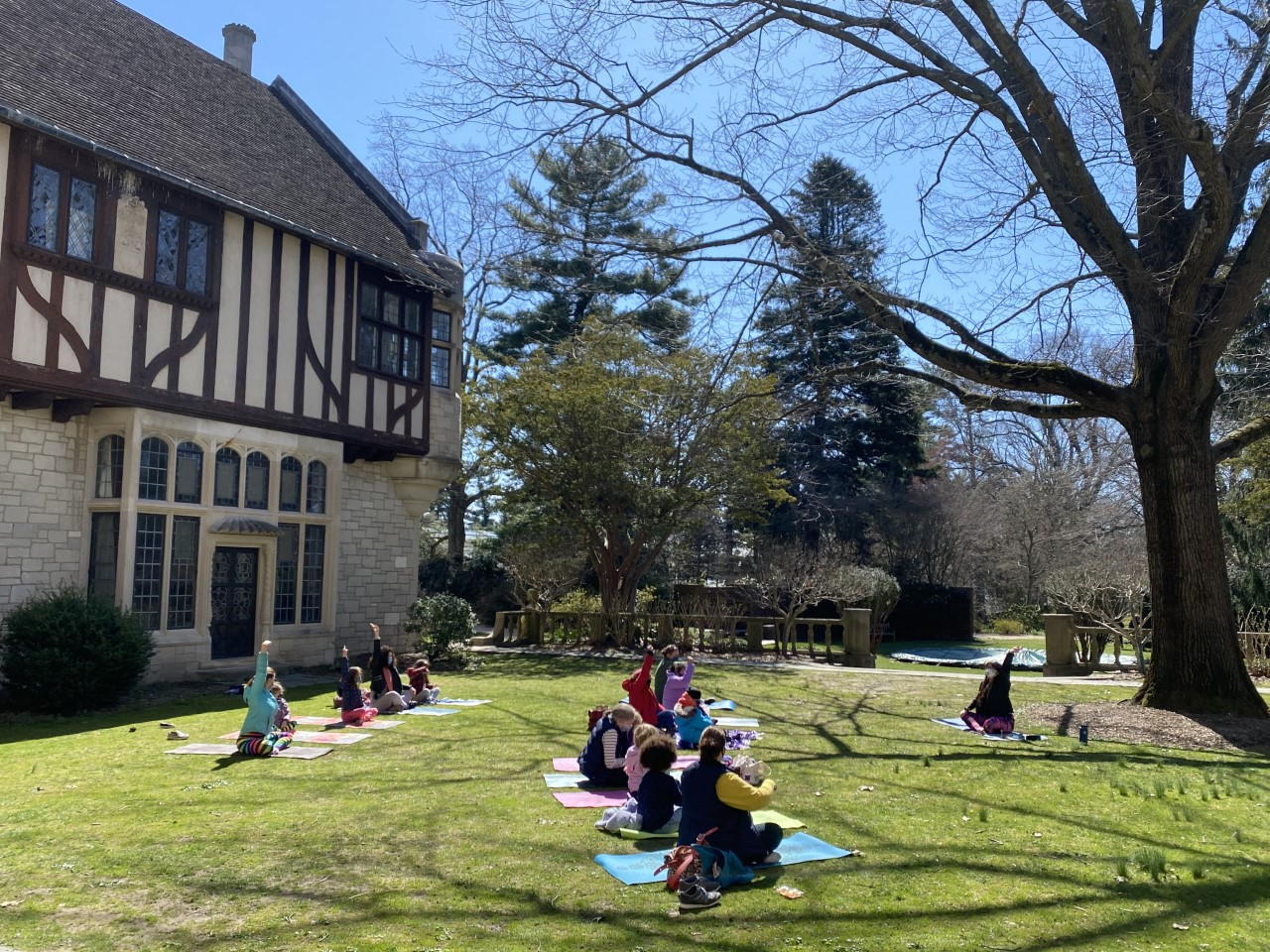 Family Yoga in the Garden at Planting Fields at Planting Fields Foundation