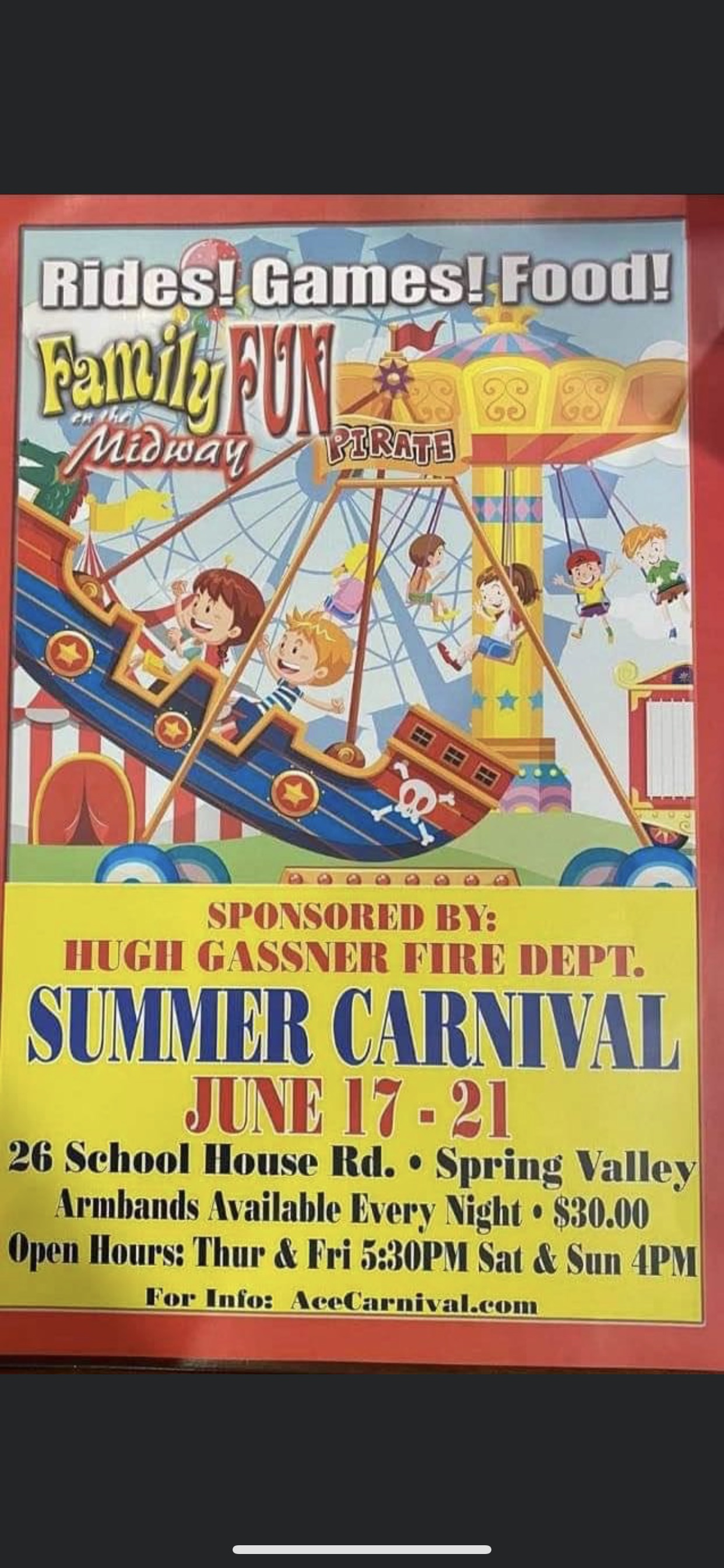 Summer Carnival at South Spring Valley Fire District