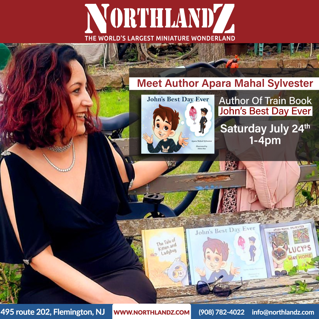 John's Best Day Ever Book Signing Day by Apara Mahalsylvester at Northlandz The World's Largest Miniature Wonderland & Museum