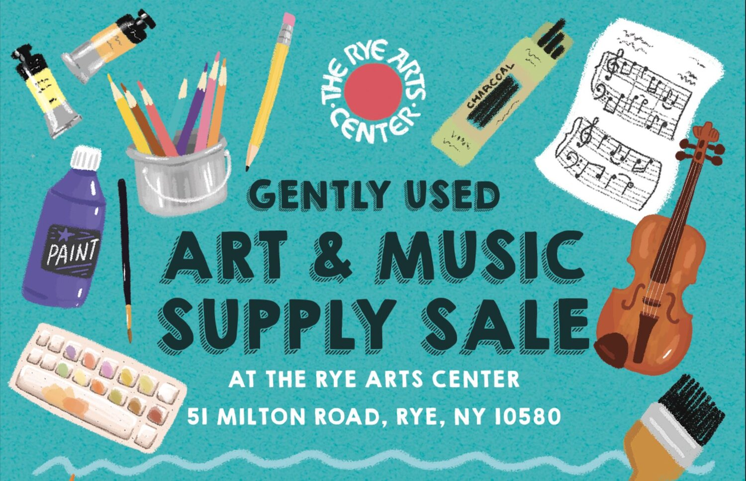 Gently Used Art & Music Supply Sale at The Rye Arts Center