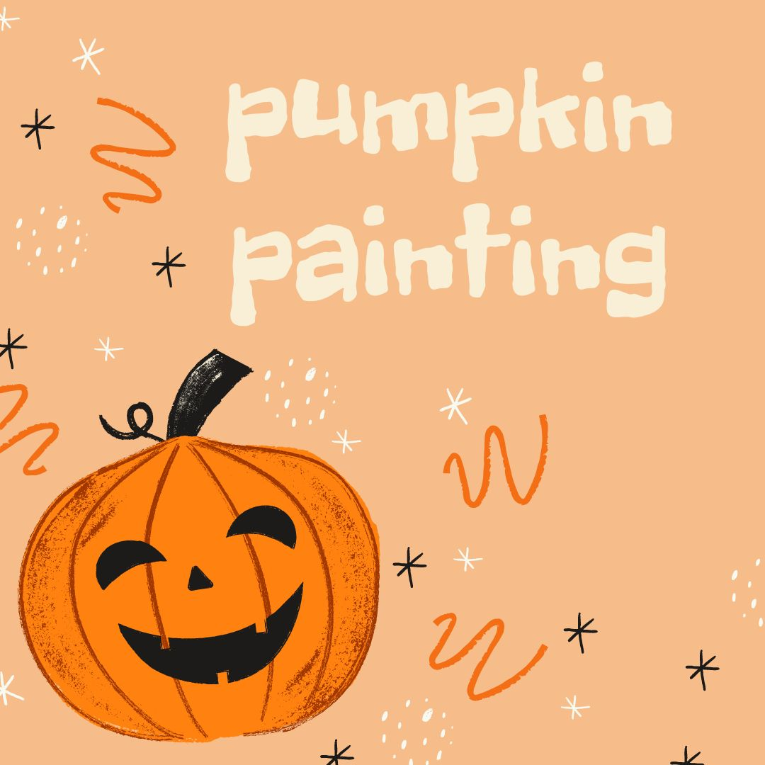 Pumpkin Painting at Patchogue-Medford Library