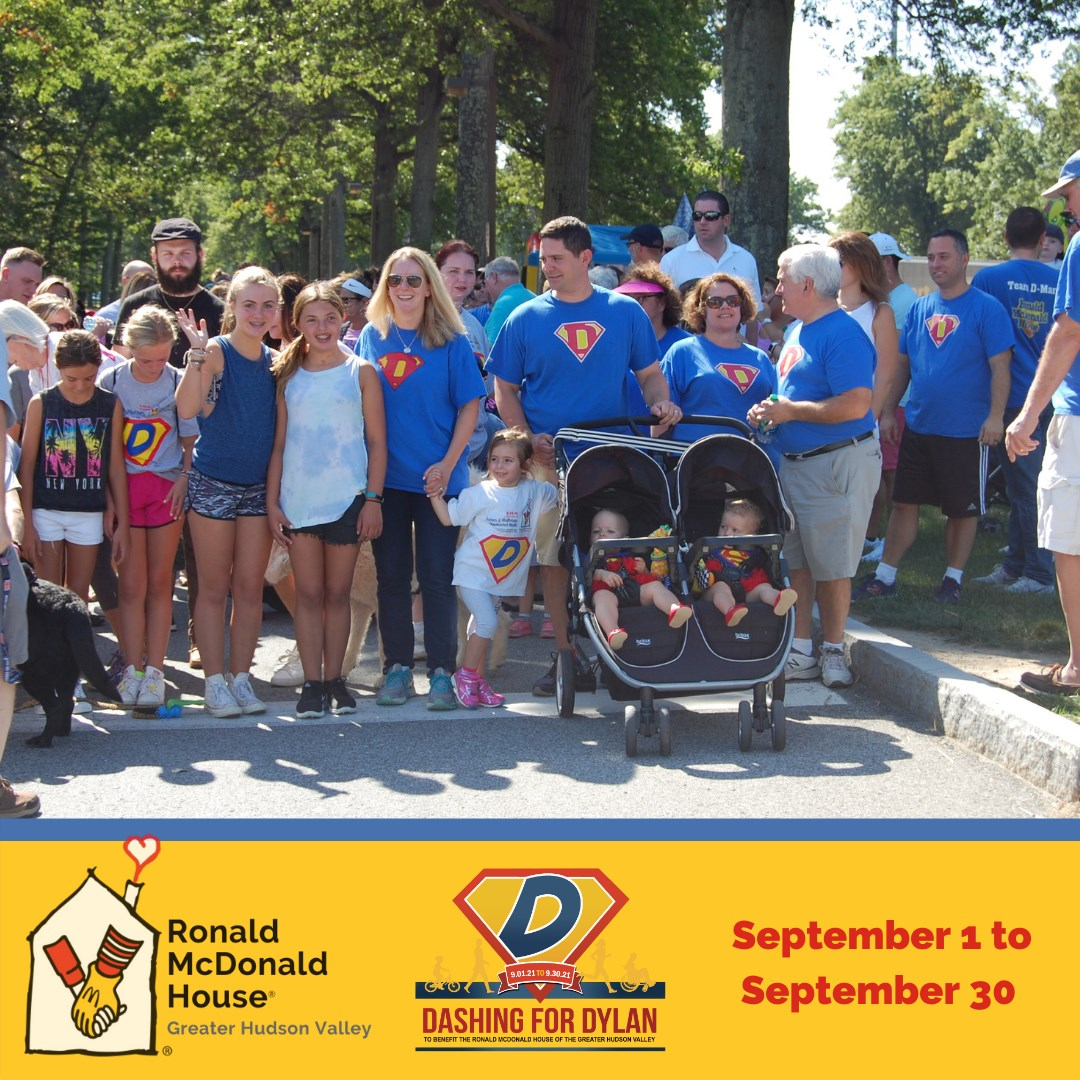 Ronald McDonald House to Host Month-Long Dashing for Dylan Challenge Dylan J. Hoffman 7th Annual Memorial Walk at Crawford Park