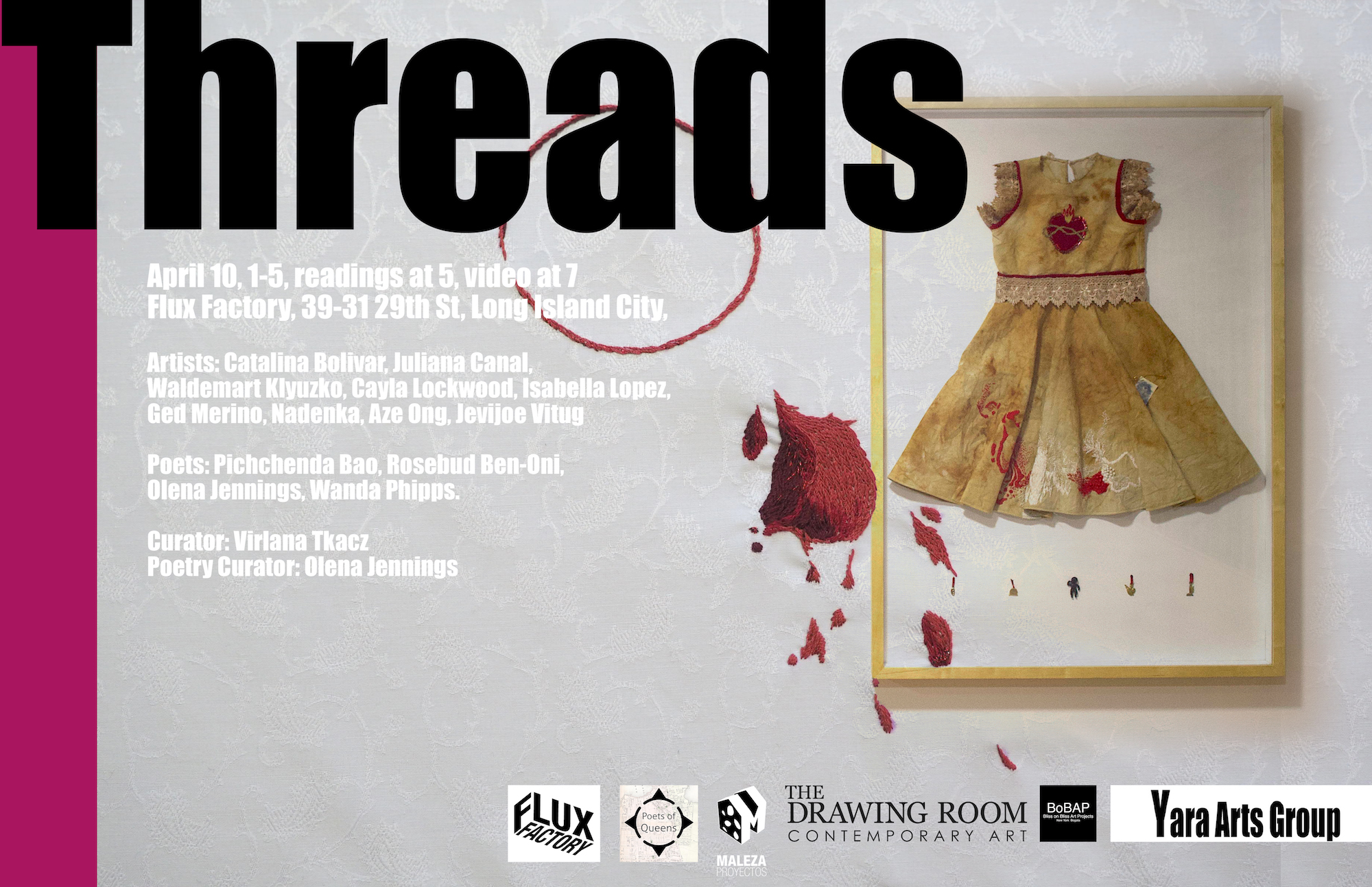 IN PERSON AND ONLINE THREADS at Flux Factory
