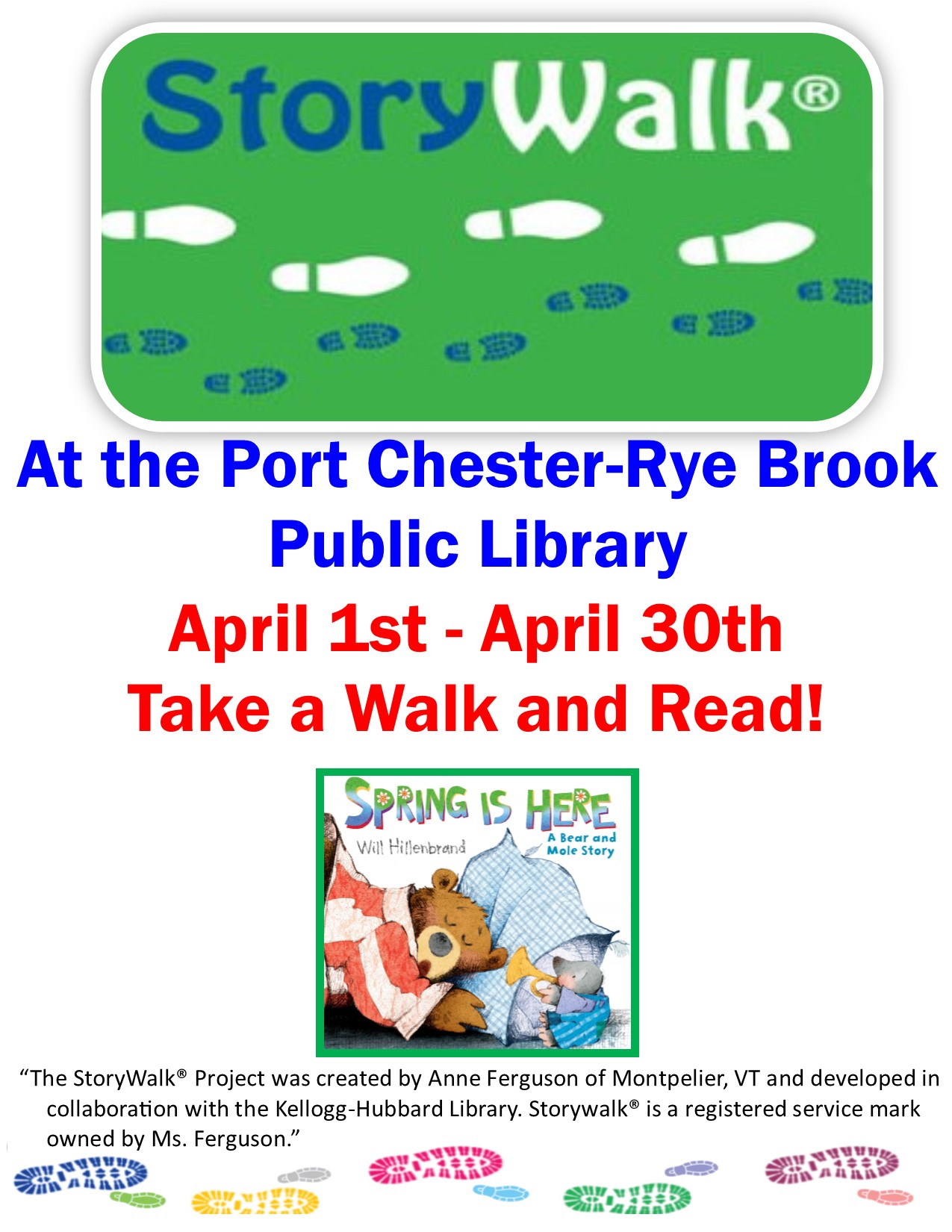 IN PERSON StoryWalk at the Port Chester-Rye Brook Public Library at Port Chester-Rye Brook Library
