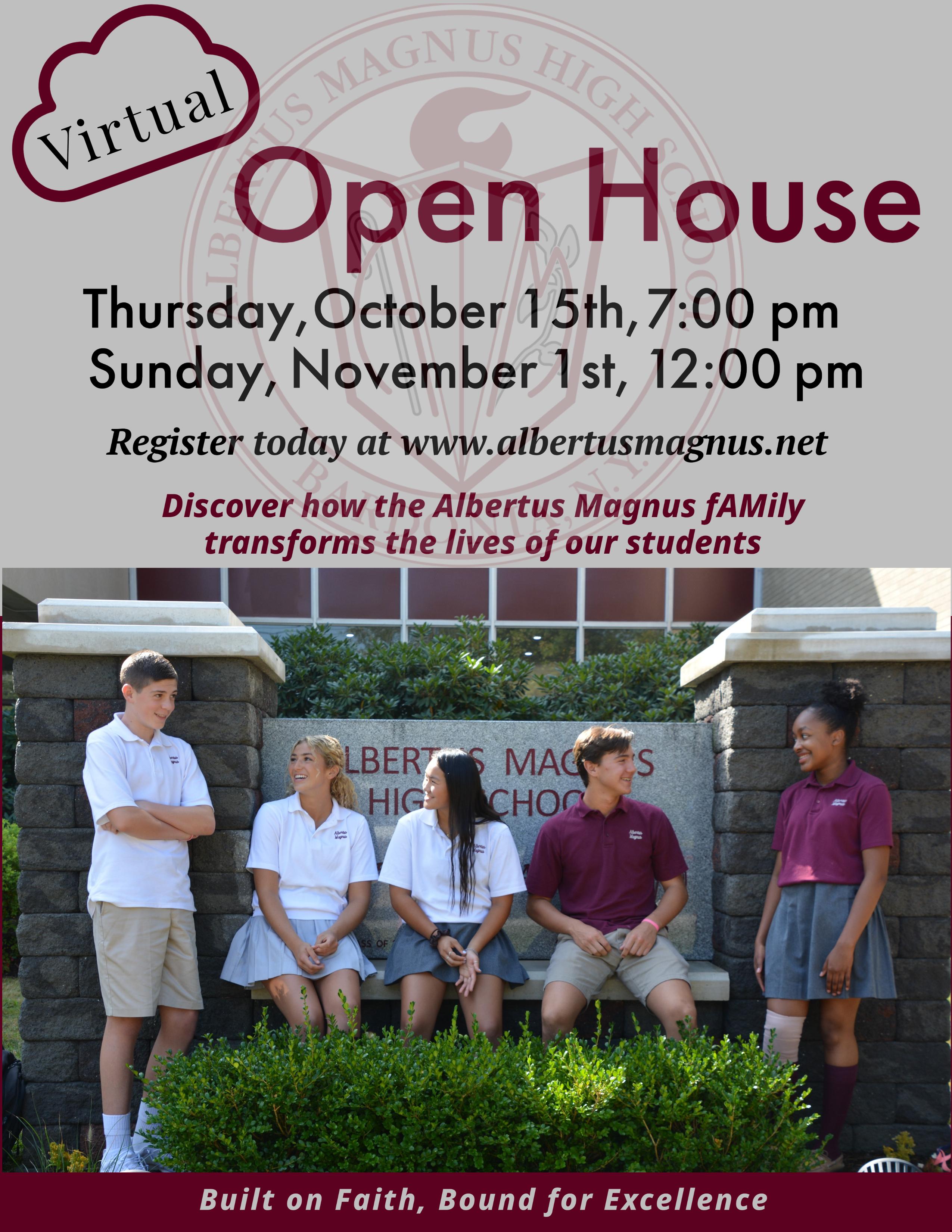 ONLINE Virtual Open House at Albertus Magnus High School