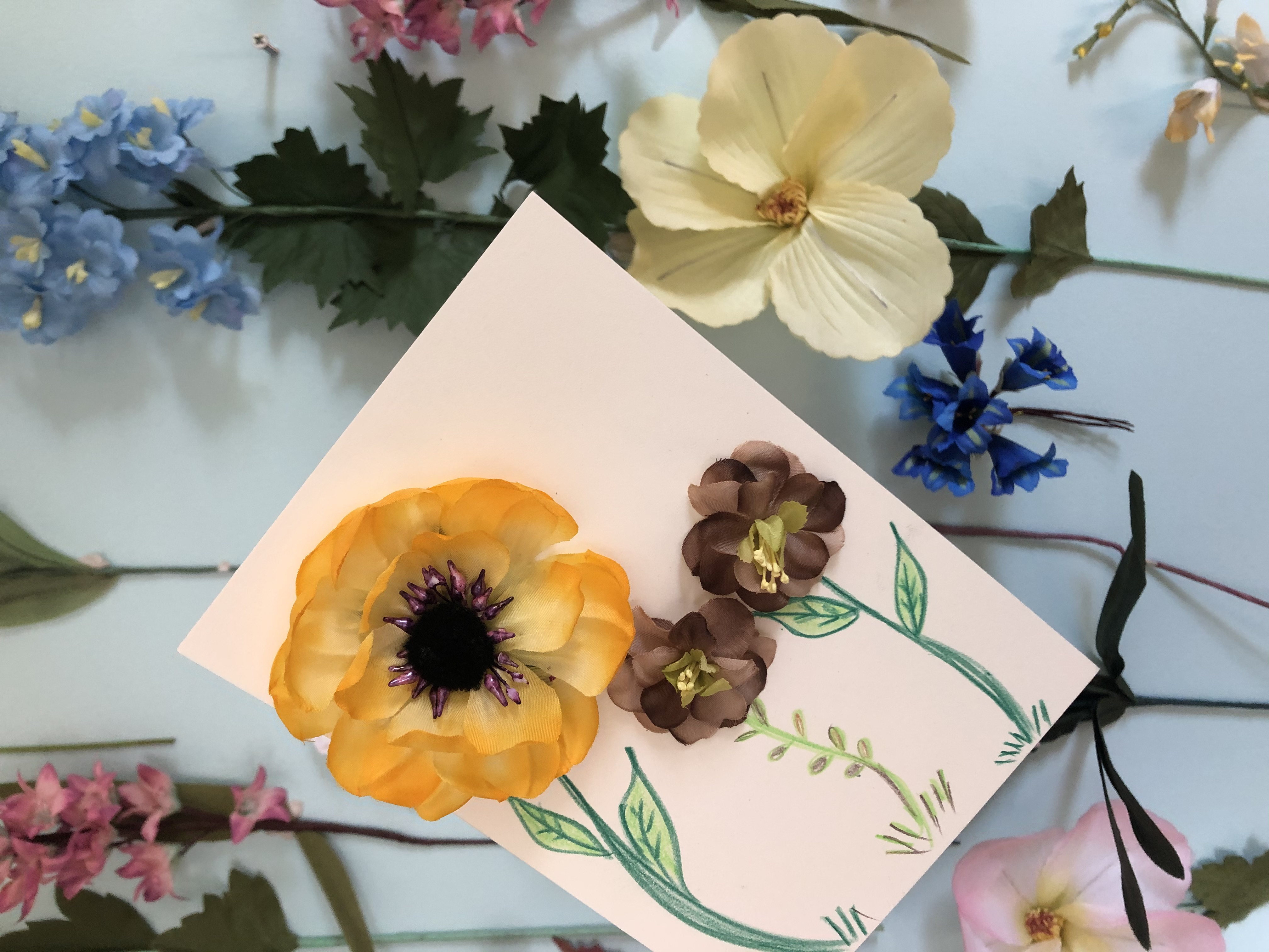 Virtual Card-Making Workshop with Flowers at BloomAgain Bklyn