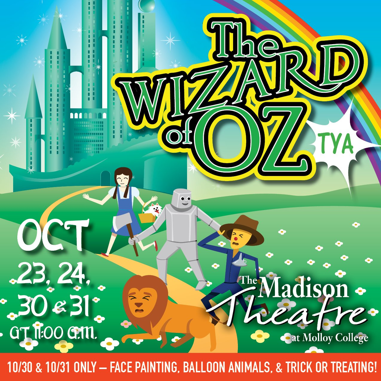 Wizard of Oz - Theatre for Young Adults at Madison Theatre at Molloy College