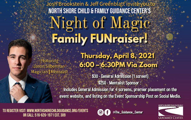 ONLINE A Night of Magic: Virtual Family FUNraiswer at Northshore Child Guidance Center