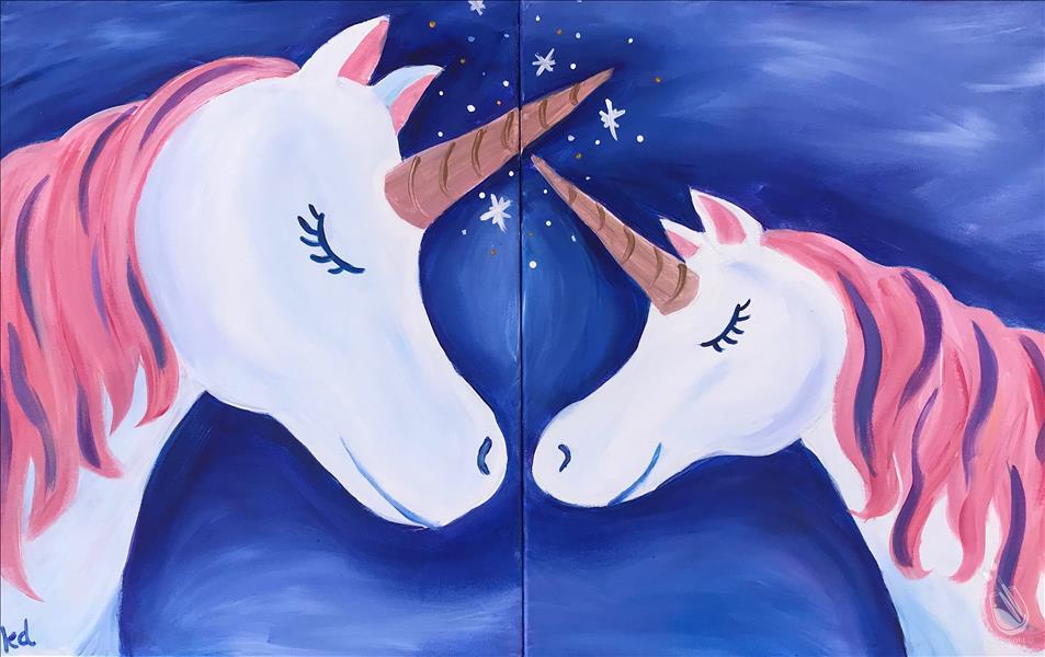 HAPPY MOTHER'S DAY! - Mommy and Me Unicorn - Set at Painting with a Twist