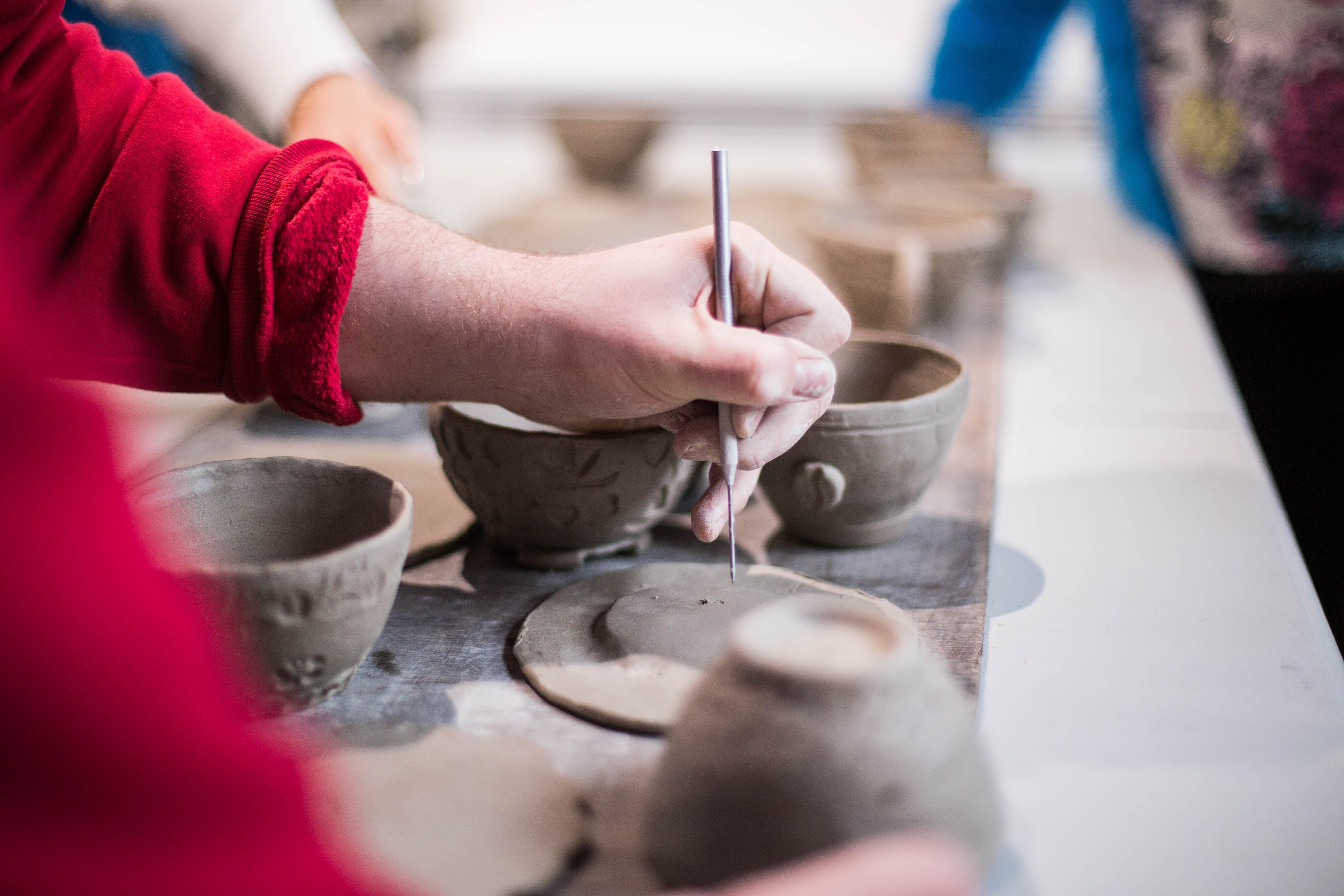 ONLINE Youth Ceramics Workshop: Texture Plates at Katonaah Museum of Art