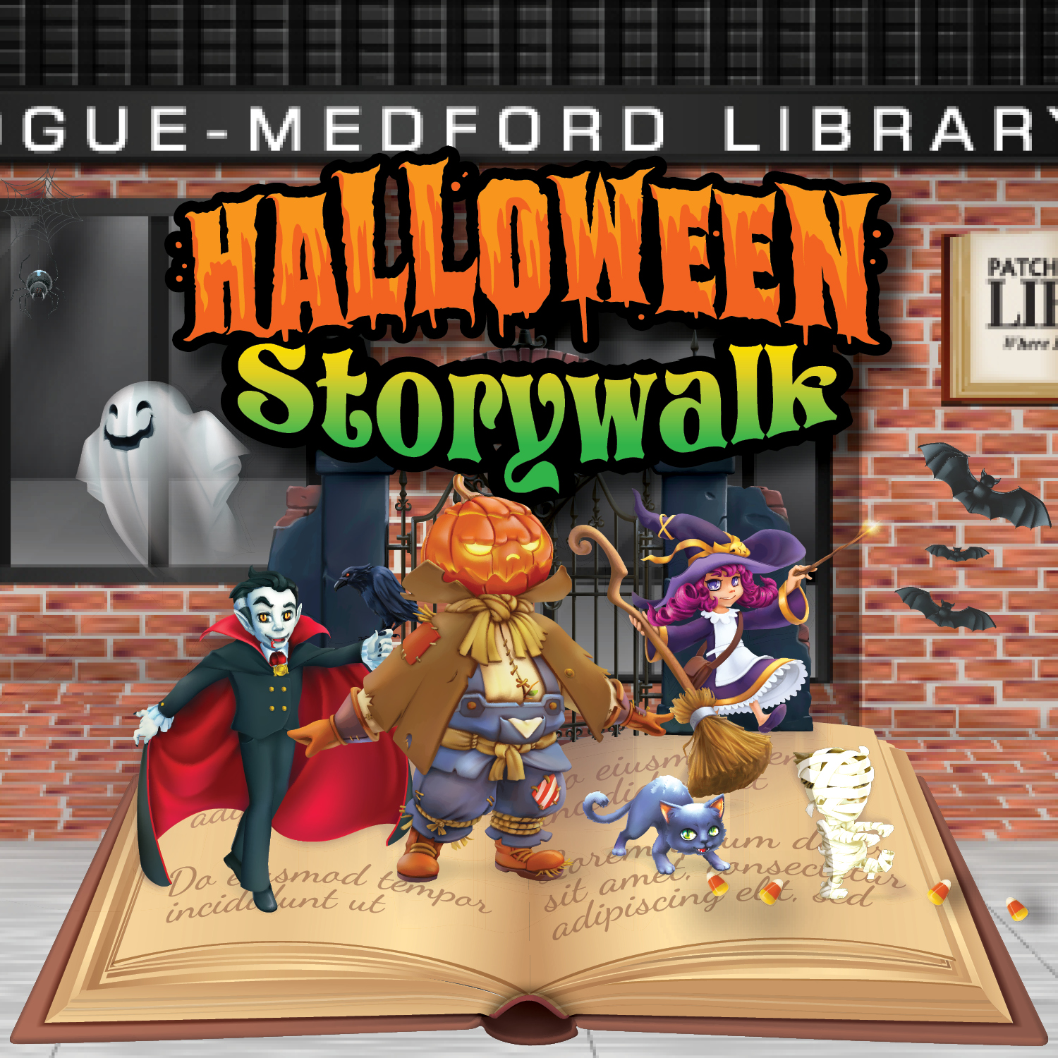 IN PERSON Halloween Storywalk at Patchogue-Medford Library