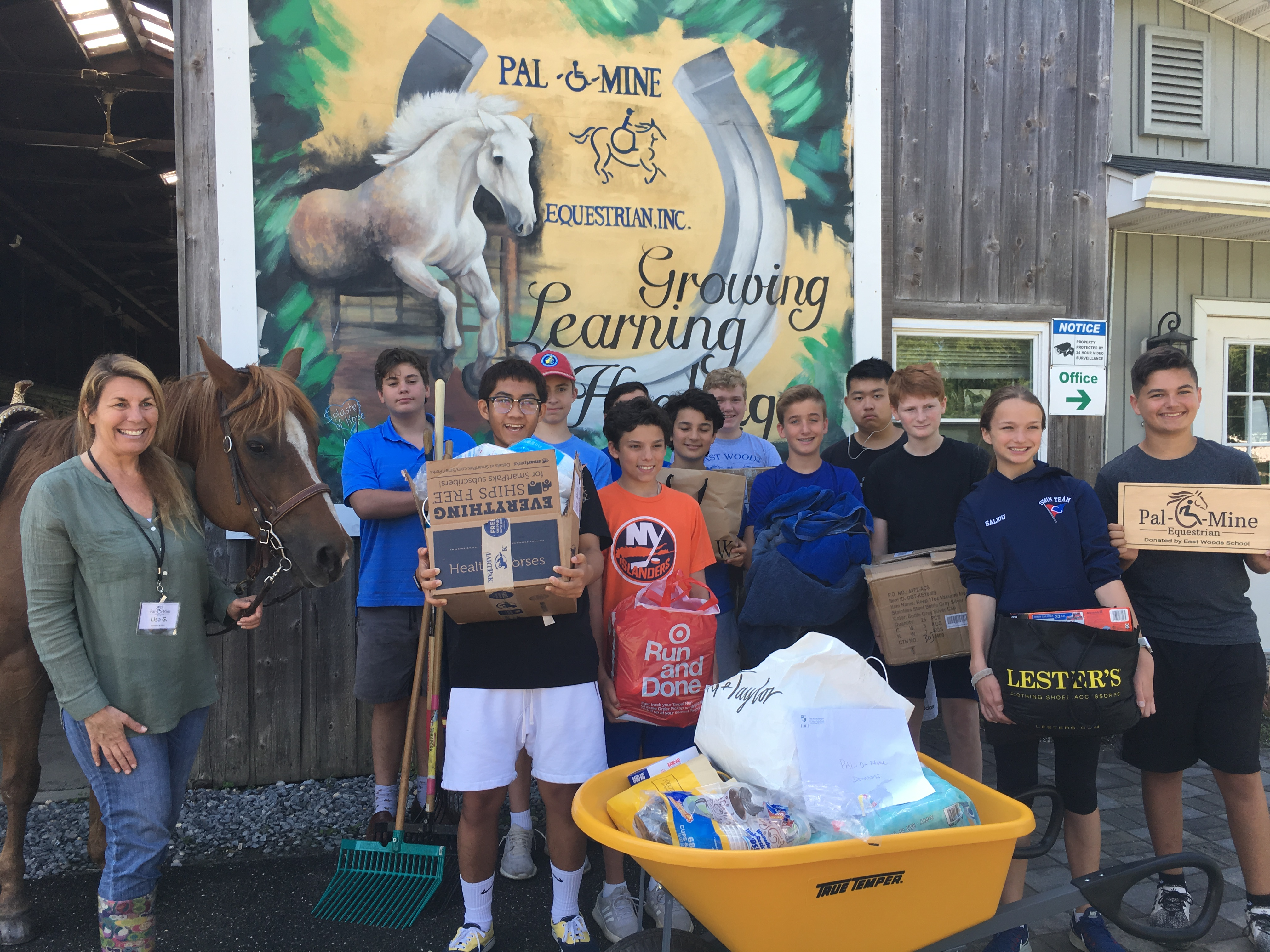 East Woods School 8th Graders Choose to Support Pal-O-Mine in a Yearlong Leadership Project