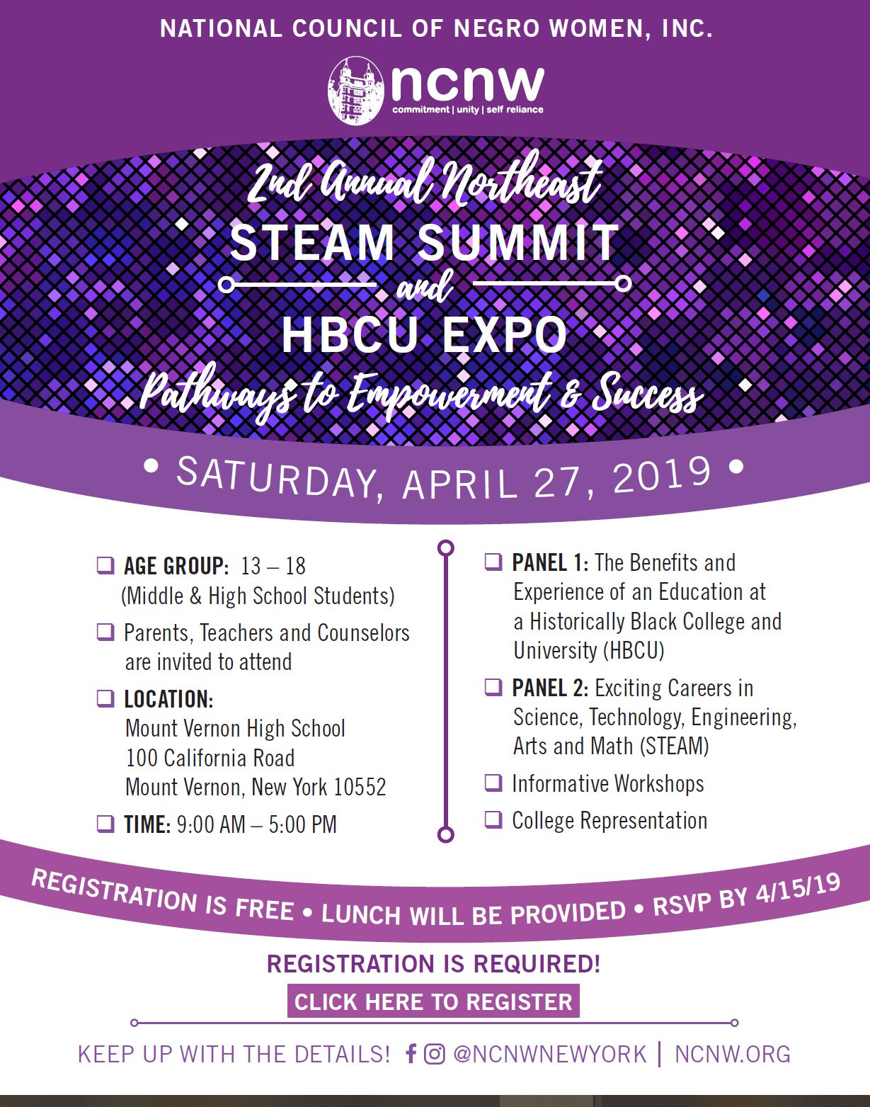 NCNW to Host 2nd Annual STEAM Summit