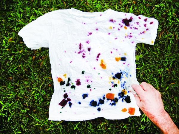 tie dye with frozen dye step 4