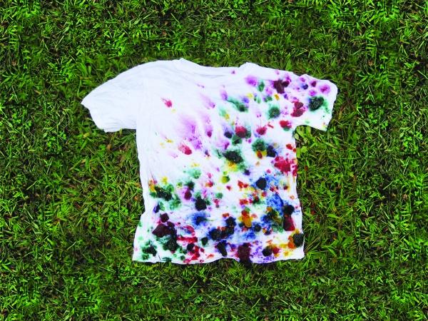 tie dye with frozen dye step 5