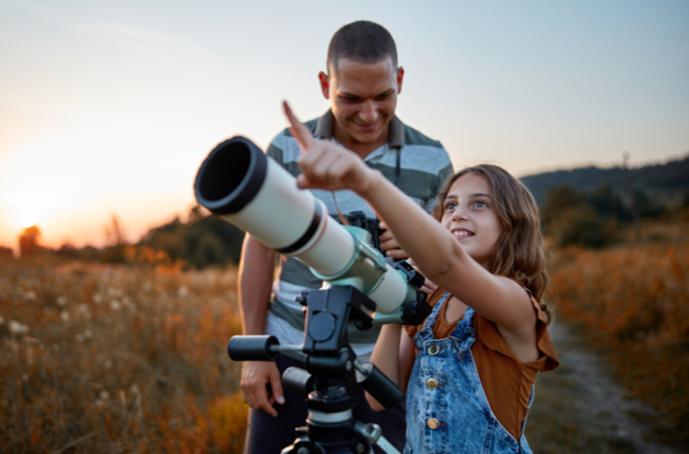 stargazing is a fun nighttime activity for families