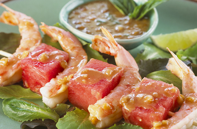 shrimp and watermelon sate