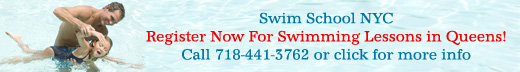 Register now for swimming lessons in Queens.